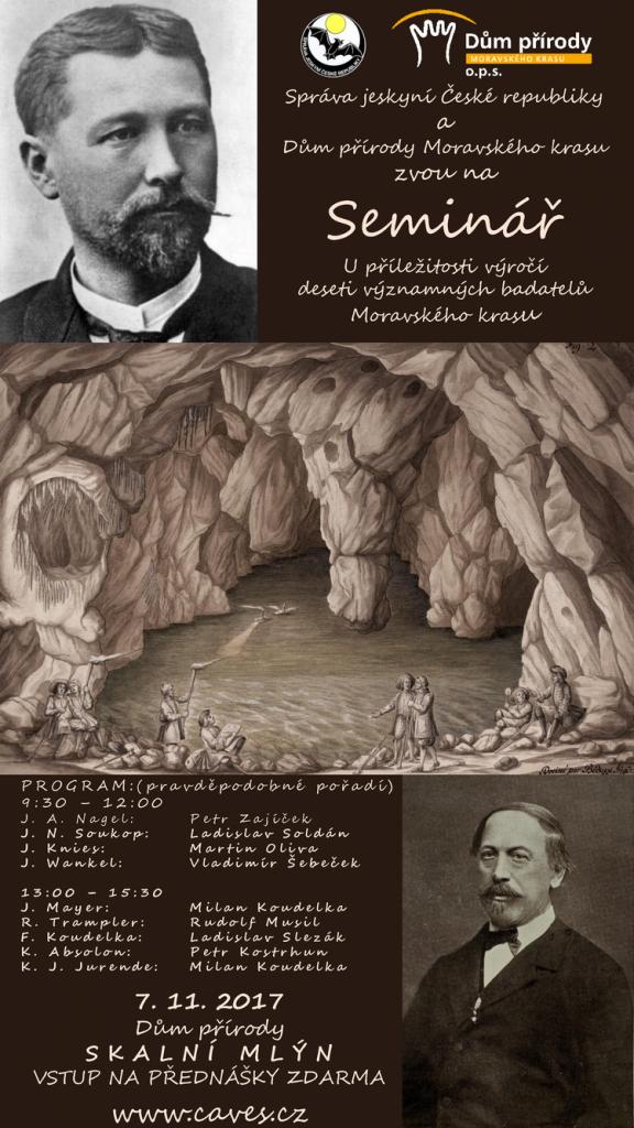 Seminář u příležitosti výročí deseti významných badatelů Moravského krasu 1