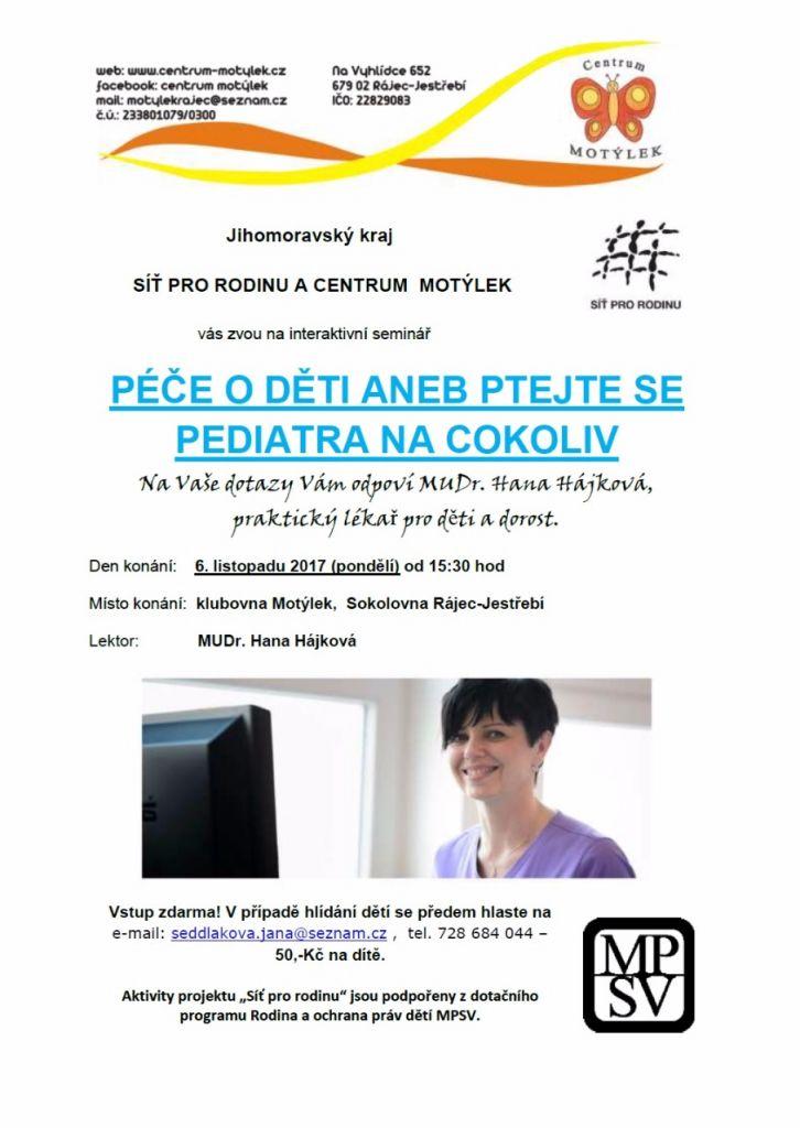 Péče o děti aneb ptejte se pediatra na cokoliv  1
