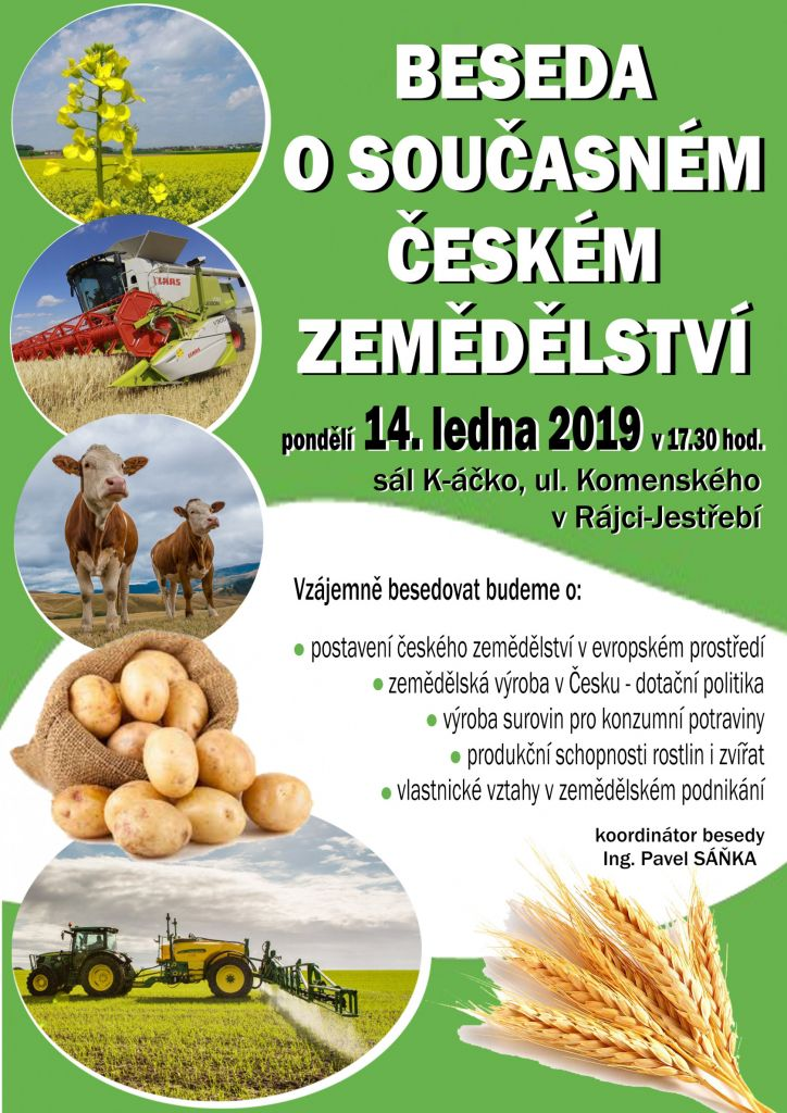 Beseda o současném českém zemědělství  1