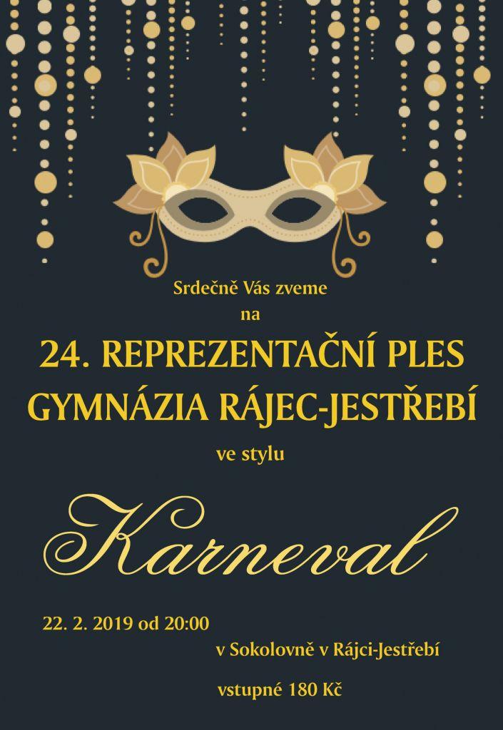 24. Reprezentační ples Gymnázia Rájec-Jestřebí 1